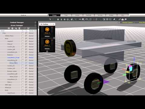 iClone5 Tutorial – Physics Toolbox 4WD Assembly