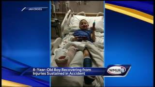 WATCH: Boy recovering after suffering serious injuries in Christmas car accident