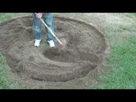 Edger/ trencher makes a raised  landscaping  bed