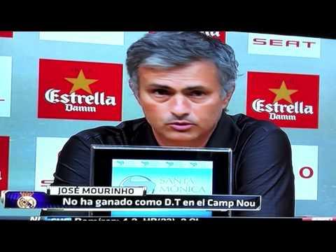 Mourinho mete Dedo en ojo de Tito Vilanova - Barcelona vs Real Madrid