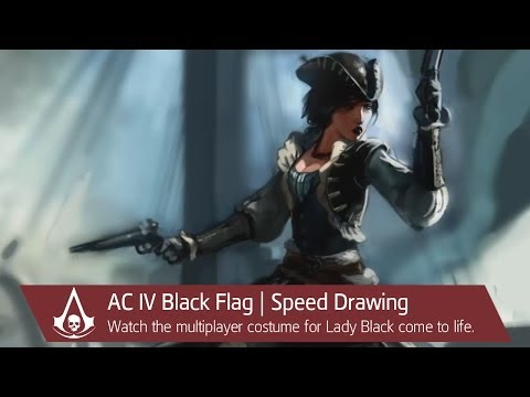 Assassin's Creed IV Black Flag | Lady Black -- Speed Drawing