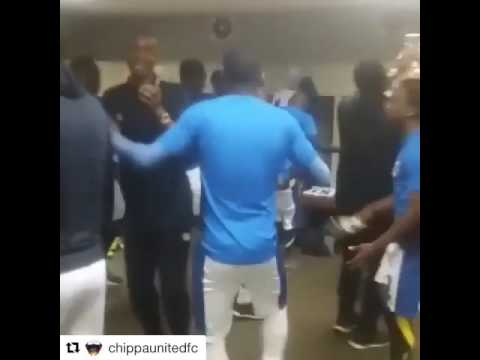 Chippa United singing before their game against Pirates