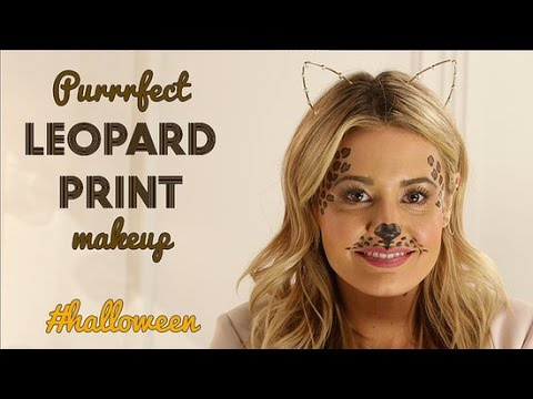 DIY Beauty   Leopard Print Makeup Halloween Makeup Tutorial