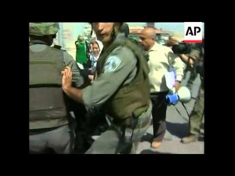 Palestinian women stage demos at crossings; scuffles, arrests