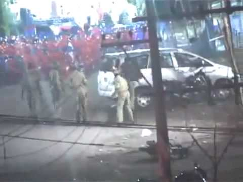 Kasaragod police attack - Taken by Hidden Camera