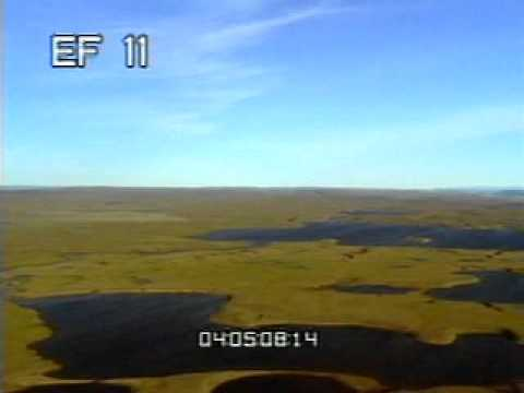 Arctic Tundra Aerials summer part 2 - 35mm - Archival Stock Footage