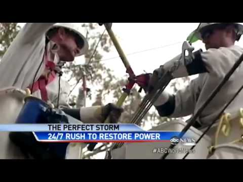Hurricane Sandy Recovery Effort: Race to Get Power...