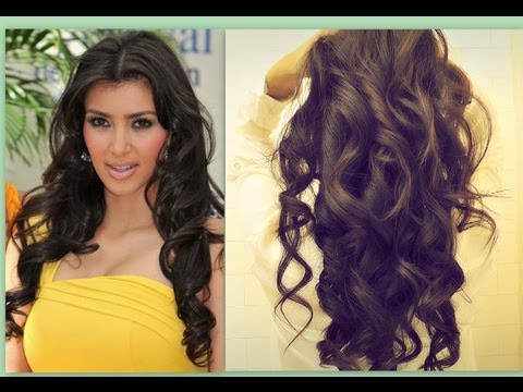 ★ KIM KARDASHIAN HAIR TUTORIAL | HOW TO CURL LONG HAIR | BIG, SEXY, SOFT CURLS HAIRSTYLES \ PARTY