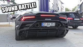 SOUND BATTLE: Lamborghini Huracán VS Huracán Performante VS Huracán EVO!