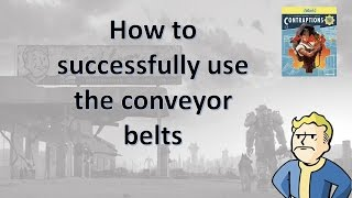 Fallout 4 Contraptions DLC - How to use Conveyor Belts and Build a Working Production Line