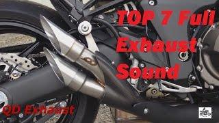 Top 7 Full Exhaust Sound Kawasaki Z1000  / QD Exhaust, Akrapovic, Austin Racing,  Yoshimura ...