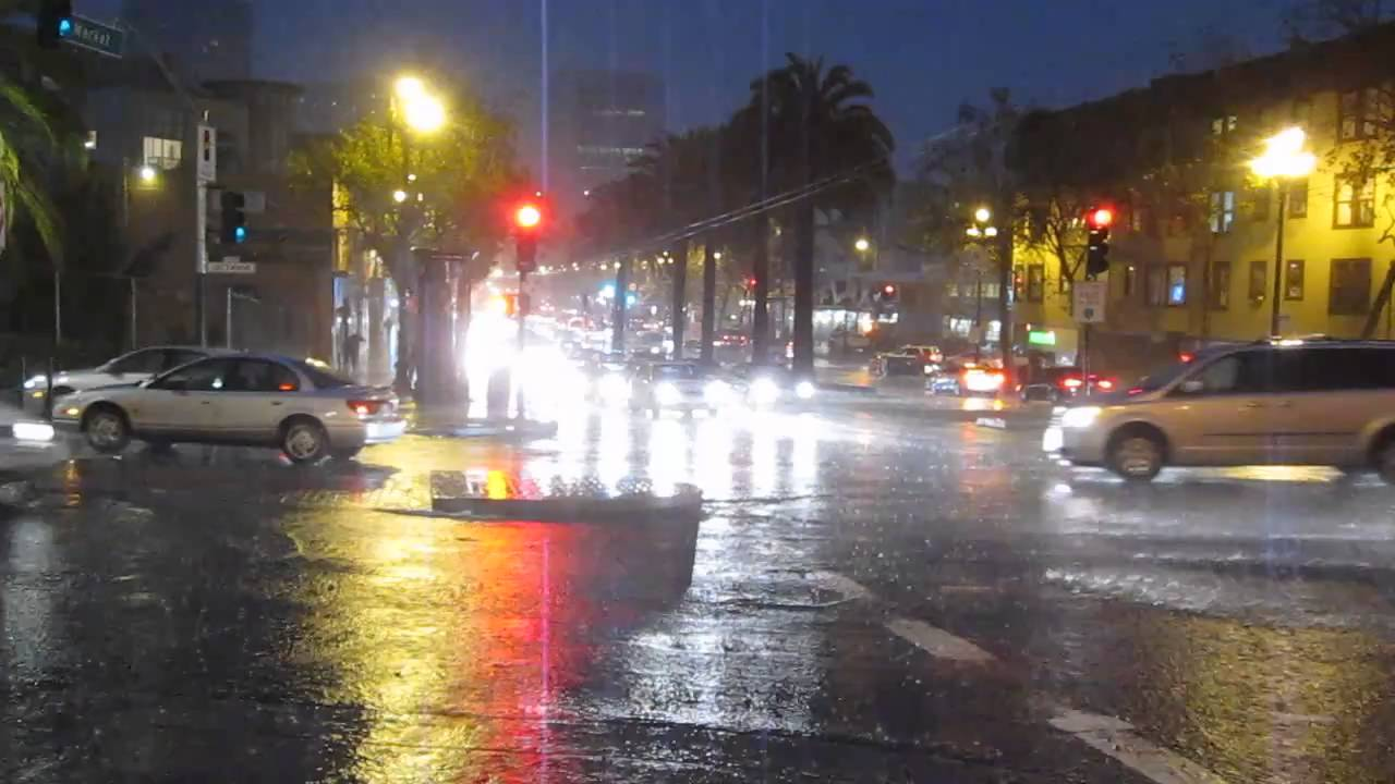 Rain Storm San Francisco California November 2010 Youtube