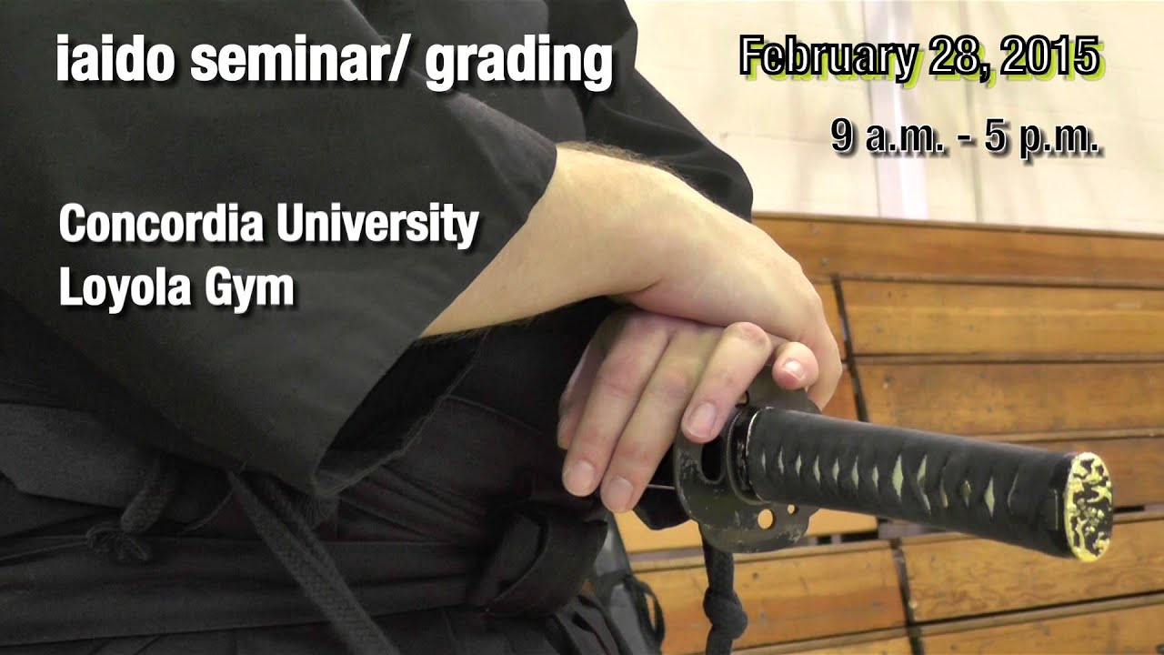 Promo Iaido Seminar and Grading for Eastern Canada