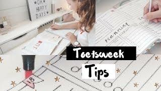 Toetsweek plan & leer tips  ♡ Eva Rose