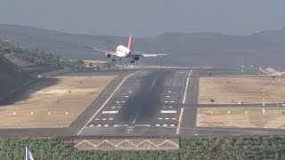 Dangerous Crosswind Storm Aborted Landings Go-Around at Madeira Airport