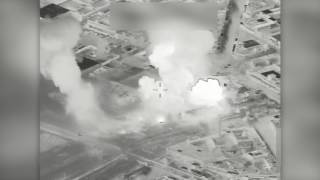 Coalition airstrike destroys an ISIS VBIED facility near Mosul, Iraq