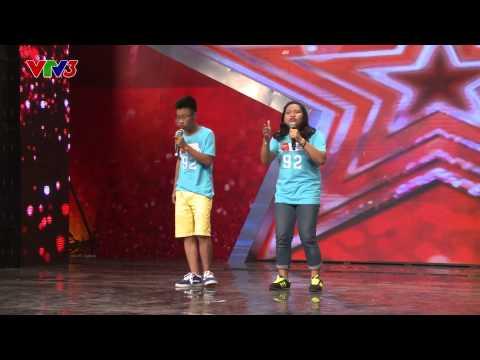 Vietnam's Got Talent 2014 - Bốn chữ lắm - Quang Thái vs Hải Yến