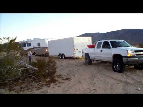 chevy silverado 1500 pulling stuck motorhome with toybox - HD