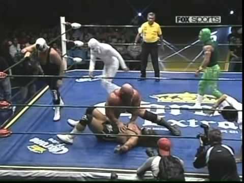 CMLL - Strongman, Volador Jr., Atlantis vs. Místico, Terrible, Texano Jr., 2010/04/25