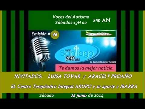 Radio SANTIAGO P46: INVITADOS: LUISA TOVAR  y  ARACELY PROAÑO;  ARUPO (Centro Integral) 2014.06.28.