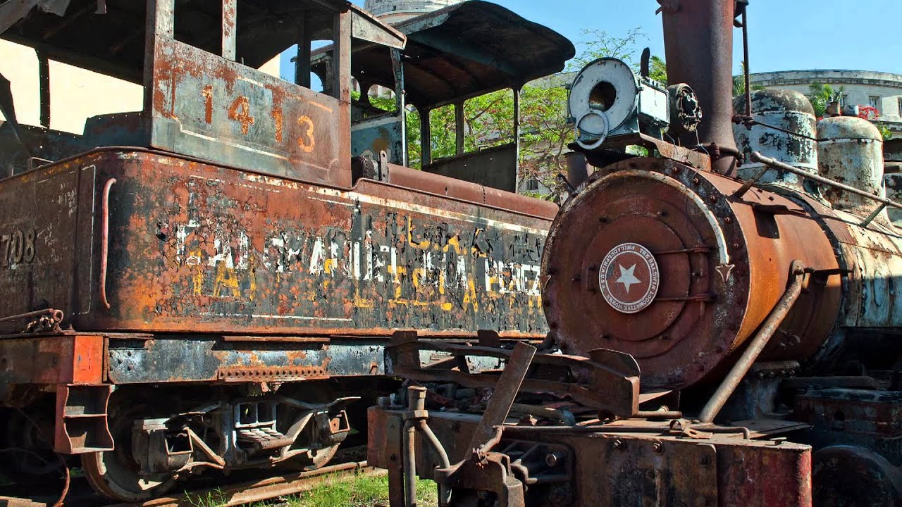 Steam Locomotive Scrapyard And Museum Havana Youtube