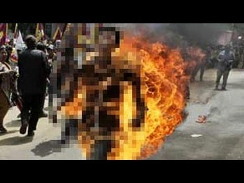 Tibetan protester sets himself on fire ahead of China President's visit to Delhi