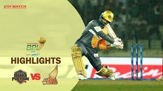Dhaka Platoon vs Cumilla Warriors Highlights | 6th Match