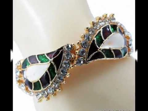 0 Traditional Style Enamel Kundan Bangle Kadas From India