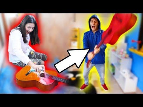 BOYFRIEND PRANK: BREAK HIS GUITAR!