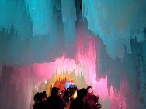 層雲峡氷瀑(ひょうばく)まつり3