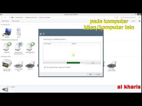 Video Cara Share Printer dengan Jaringan Internet/Wifi