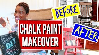 CHALK PAINT ROCKING CHAIR MAKEOVER: Easy Tutorial for Beginners! (2018)