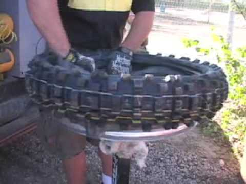 Motorcycle Tire Change