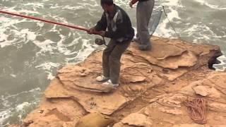 AKHFNIR (Maroc) Pêche des falaises