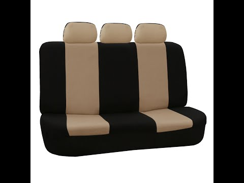 Car Split Bench Seat Covers Installation - FH Group Presents
