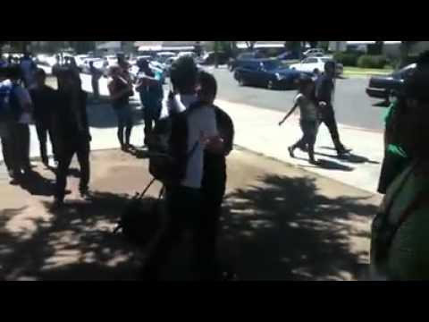 Hmong girl punches a dude