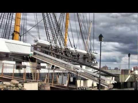 """HMS Trincomalee"", A Nelson era Frigate of the Leda class ""Hartlepool Historic Docks""."