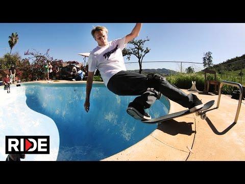 Tony Hawk and Lance Mountain Backyard Pool Session