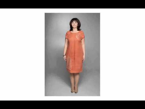 Платья из льна для полных женщин сшить 6