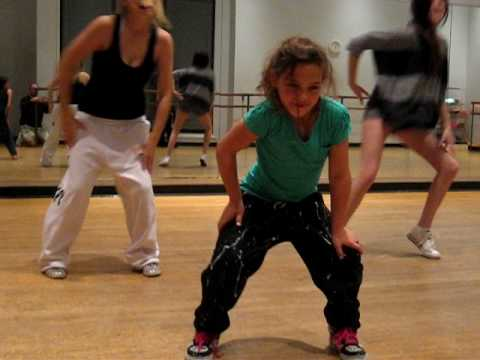 9 year old Amazing Dance video of Emily a very talented young girl hip hop dancer at practice 2010 Music Videos