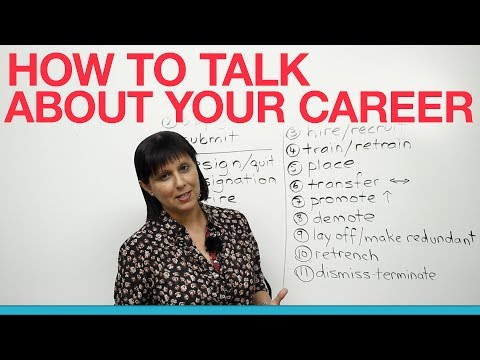 Business English - How to talk about your career