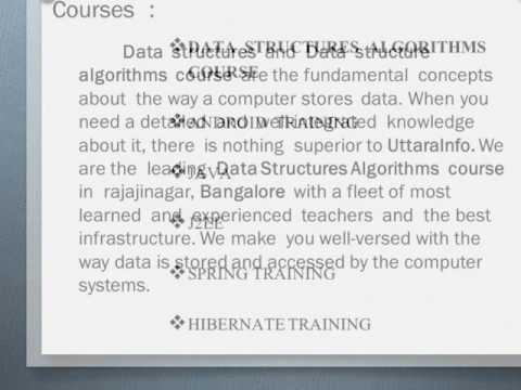 Data Structures Algorithms Course in Bangalore - uttara