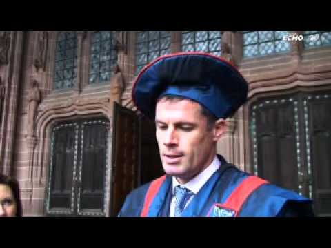 Liverpool FC legend Jamie Carragher receives honourary...