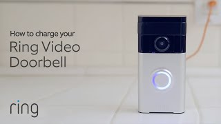 How to Charge Your Ring Video Doorbell