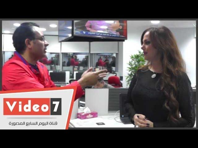 """الإعلامية جيهان منصور تزور""""اليوم السابع"""" وتشيد بالمقر الجديد"""
