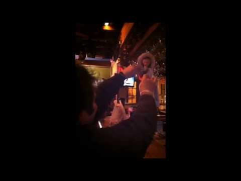 Man masterbates a doll at a crowded restaurant
