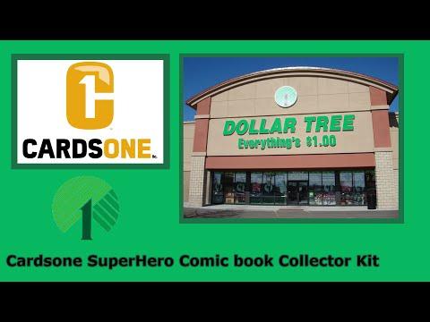 Dollar Tree Cardsone SuperHero Comic Book Collector Kit