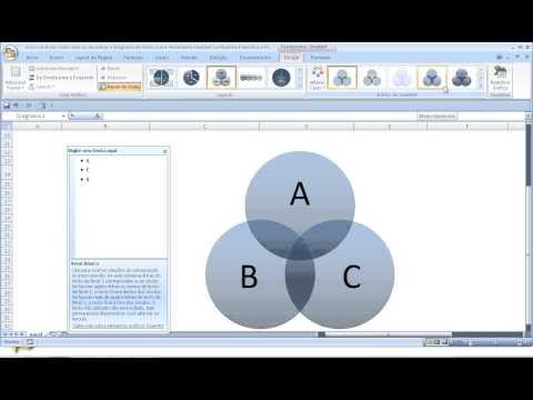 Curso de excel como criar desenhar diagrama de venn com ferramenta curso de excel como criar desenhar diagrama de venn com ferramenta smartart na planilha estatstica ccuart Choice Image