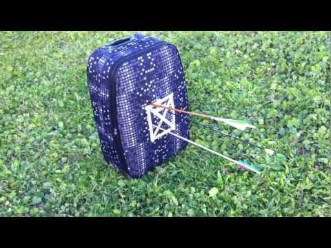 DIY Homemade Archery Target - portable and cheap.