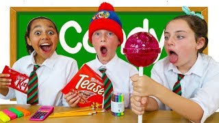 HOW TO SNEAK CANDY INTO CLASS!! Kids Get Detention